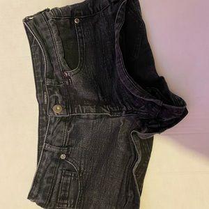 Black Jean Shorts